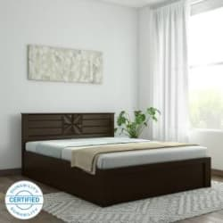 Spacewood Engineered Wood Queen Hydraulic Bed Finish Color - Vermont