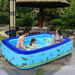 Cho-Cho Inflatable Bath Tubs for Kids and Adults SPA Tub with Pump 10 Ft