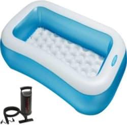 Intex Aadoo 5 Feet Ract Kids Bath Tub with Air Pump Multicolor