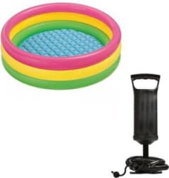 Speoma 3ft Inflatable Bath tub and Air pump for inflatable toys Multicolor