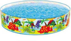 dmte 4 Feet Kids Water Pool Bath Tub Swimming Pool Bath Toy(Multicolor)