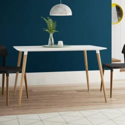 Finch Fox Engineered Wood 4 Seater Dining Table(Finish Color - White)
