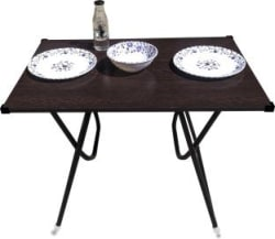 limraz furniture Engineered Wood 4 Seater Dining Table Finish Color - brown