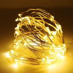 Home Delight 400 inch Yellow Rice Lights Pack of 1