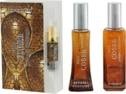 Syspro Cobra Apparel Perfume Combo Pack (50 ml + 100 ml) with Concentrated Attar (8 ml) for Men, Women & Unisex With Long Lasting Fragrance For Birthday, Valentine & Rakhi Special Gift (Pack of 3) (Family Pack) Eau de Parfum - 158 ml For Men & Women