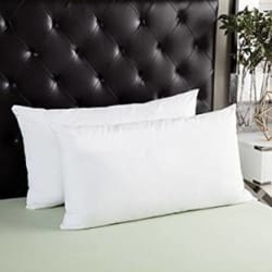 JDX Polyester Fibre Solid Sleeping Pillow Pack of 2(White)