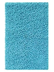 Saral Home Soft Cotton Anti Slip Saggy Bathmat (Turquoise, 40x60cm)