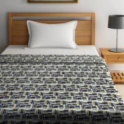 Portico New York Printed Single Coral Blanket Polyester, Grey