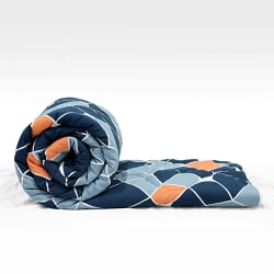 Divine Casa Microfiber Reversible Geometric Single Comforter for Single Bed - (59\