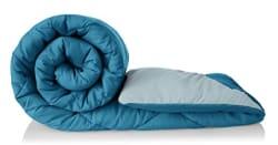 Amazon Brand - Solimo Microfibre Reversible Comforter, Single (Ocean Blue and Mild Blue, 200 GSM)