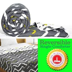 Divine Casa Polyester 150TC Comforter (Single_White)