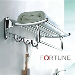 FORTUNE Stainless Steel Folding Towel Rack (24 inch) Pack of (1) if Don t Receive FORTUNE™ Logo Product