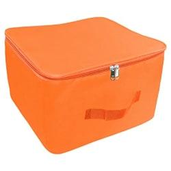 TULMAN Nylon Wardrobe Organizer Storage Bag for Clothes with Zipper Closure & Handle - 34 L - Orange - (15 x 10 x 14 Inch)