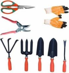 JetFire German Style Pruner Garden Tool Set of 6 & Scissor, Gloves Garden Tool Kit Garden Tool Kit(7 Tools)