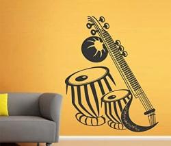 Wallstick Musical Instruments Wall Sticker (Vinyl, 49 cm x 4 cm x 4 cm)