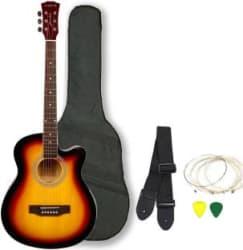 Kadence KAD-FNTR-SUN-C Linden Wood Acoustic Guitar Multicolor