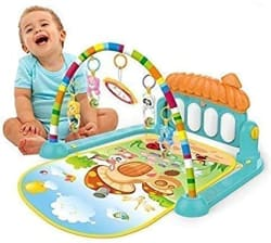 eErlik Kick and Play Musical Keyboard Mat Piano Baby Gym and Fitness Rack (Assorted Colour)