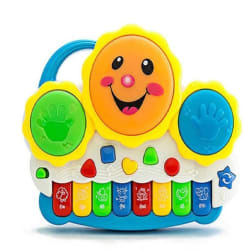 KT BROTHERS Drum Keyboard Musical Toys with Flashing Lights, Animal Sounds And Songs Multicolor