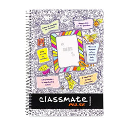 Classmate 2100136 Soft Cover 1 Subject Spiral Binding Selfie Notebook, Single Line, 180 Pages
