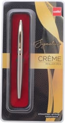 Cello Signature Creme Ebony Roller Ball Pen