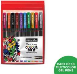 Classmate Octane Colourburst Gel Pen Gel Pen(Pack of 10)
