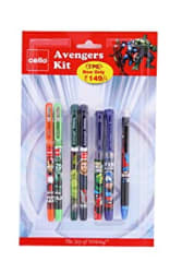 Cello Avengers Stationery Kit Combo Stationery pack with Marvel Avenger superhero stationery Includes Ball Pens, Gel Pens, Roller Pen, Fountain Pen, Mechanical Pencil