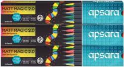 Apsara Matt Magic Pencils Pencil Set of 3, Multicolor