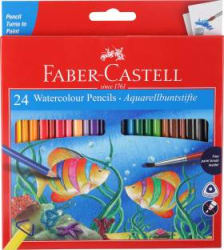 Faber-Castell 24 Water Colour Pencils+ Paint Brush Pencil(Assorted)