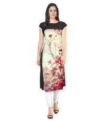 Ziyaa Multi Color Crepe Straight Kurti