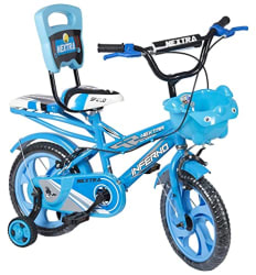 SPEED BIRD 14-T Robust Double Seat infarno Kid Bicycle for Boy and Girl - Age Groupe 3-6 Year (Color - Blue)