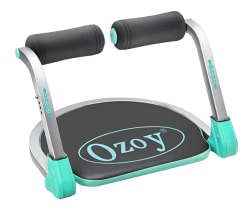 Ozoy Six Pack Abs Exerciser Machine Home Gym Equipment for Ab Exercise and Fitness 20 Different Mode Without Cycle(Black.) (Black1)