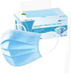 WeCool 3Ply Disposable mask Surgical Mask face masks Pollution Face Mask Respirator with 3 Ply for Men, Women, Kids with CE, ISO, FDA and SITRA Certified Face Mask UREVO High BFE 3Ply Disposable Face Mask with Melt Blow Fabric Layer with Bacterial Filtration Water Resistant Surgical Mask With Melt Blown Fabric Layer Blue, Free Size, Pack of 50, 3 Ply