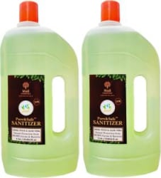 Khadi Essentials Pure&Safe Instant Multi Purpose Sanitizer - 1L (Pack of 2 Bottles) Hand Sanitizer Can 2 x 1 L