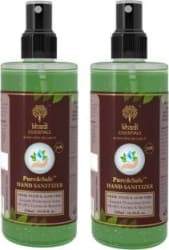 Khadi Essentials Hand Spray Sanitizer Pack of (550x2)ml with 70% Alcohol, Neem & Tulse Hand Sanitizer Bottle 2 x 550 ml