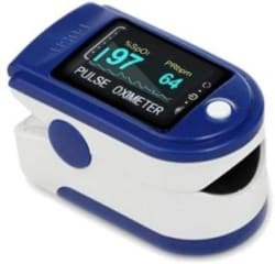 AMLIK Pulse Oximeter Finger Oximetry SPO2 Blood Oxygen Saturation Monitor Heart Rate Monitor Rotatable OLED Digital Display Pulse Oximeter MULTUCOLOR