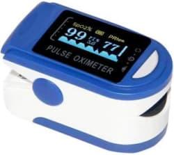 Acromax SB-1 Finger Tip Oximeter Digital Pulse Reader with Color Display - Water Resistant Pulse Oximeter(Blue)