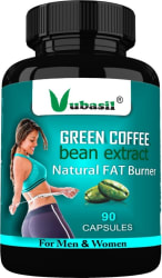 Vubasil Pure & Natural Weight Management & Appetite Suppressant Green Coffee - 90caps(90 No)