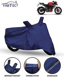 FABTEC Bike/Motorcycle Body Cover for Bajaj Pulsar NS200 , Blue