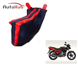 Auto Hub Sporty Black Red Bike Cover for Hero Glamour
