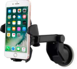 Flipkart SmartBuy Universal Car Mobile Holder for Dashboard, Windshield with Quick One Touch Technology Black
