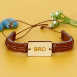 Flipkart SmartBuy Bracelet Rakhi Set 1 Designer Leather Bracelet BRO Rakhi