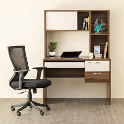 Home Centre Akron-Crystal Desk with Hutch