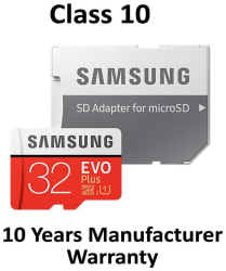 Samsung 32 GB evo plus 95 mbps MicroSDXC Memory Card Class 10 with (SD Adapter) (MB-MC32GA)