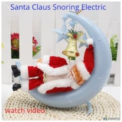 Glowtronix Christmas Electric Santa Claus Figure Dolls Music Moon With Lights Santa Claus Snoring Electric Dolls Children S For Toys