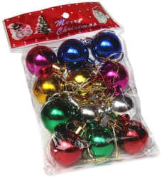 GLOWTRONIX 12 pcs Christmas Tree Decor Ball Bauble Xmas Party Hanging Ball Ornament Pendants for Home Christmas Decorations