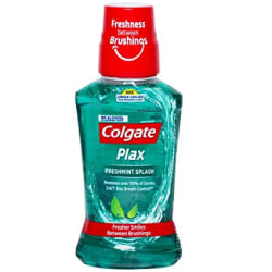 Colgate Plax Antibacterial Mouthwash, 10X longer cooling, 24/7 Fresh Breath, Removes 99% Germs - 250 ml (Fresh Mint)