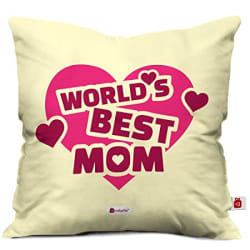 Indigifts Mummy Gift Micro Satin Fibre 12X12-Inch Cushion Cover with Filler (Multicolour) - Gift for Mothers Day, Mom, Mummy, Maa, Birthday, for Mummy Birthday, Mother Gift Items
