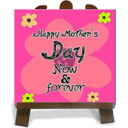 Tiedribbons Now Forever Happy MotherS Day Tile Showpiece - 28 cm(Ceramic, Multicolor)