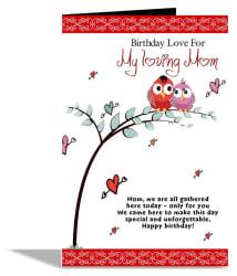Birthday Love For Mom Greeting Card