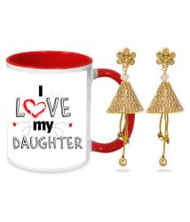 I Love My Daughter Earring & Mug Hamper
